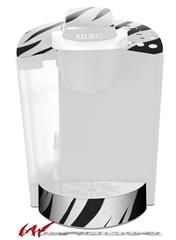 Zebra Skin Decal Style Vinyl Skin Fits Keurig K40 Elite Coffee