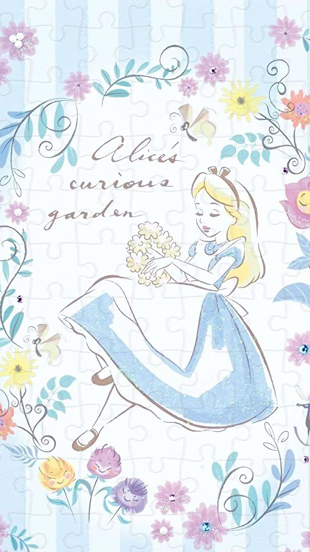 不思議の国のアリス ディズニーの携帯電話の壁紙 ディズニーの描き