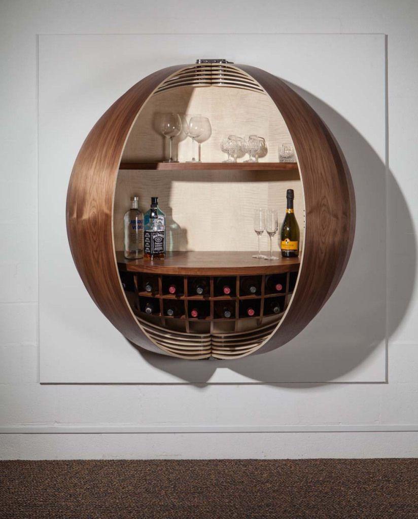 12 Art Deco Kitchen Designs And Furniture: Hemispherical Art Deco Drinks Bar