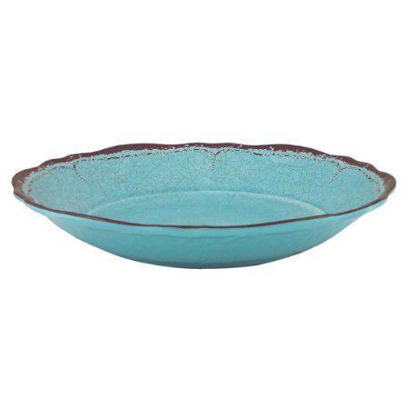 Turquoise Le Cadeaux Antiqua Vegetable//Pasta Bowl