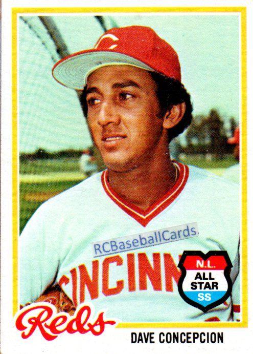 1978 Dave Concepcion, Reds, 1 Topps #180