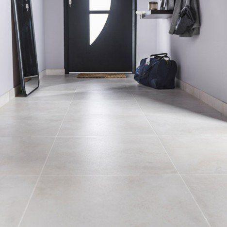 Carrelage sol et mur beige effet béton Live l.49 x L.49 cm | Salon ...