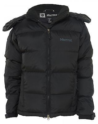 759badae850c Marmot Mountain Down Jacket Womens G1418-001 Black Cold Weather Jacket Size  M