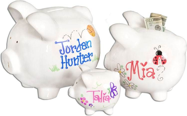 piggy bank with handpainted frogs - Google Search