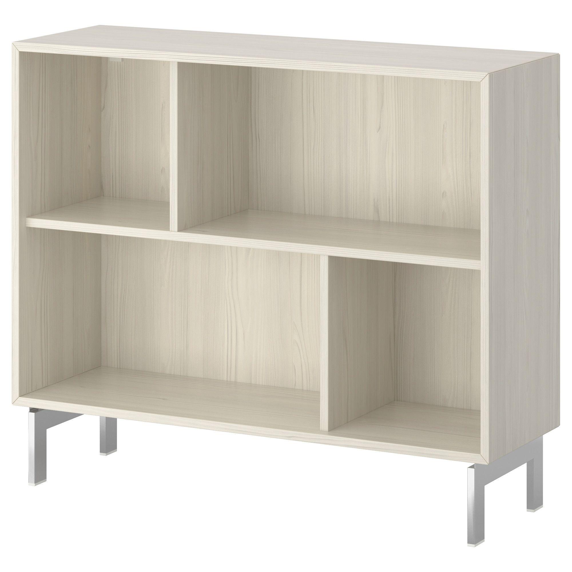 Ikea Valje Shelf Unit Larch White An Asymmetrical Storage  # Ikea Etegere Cube Modulo Bois