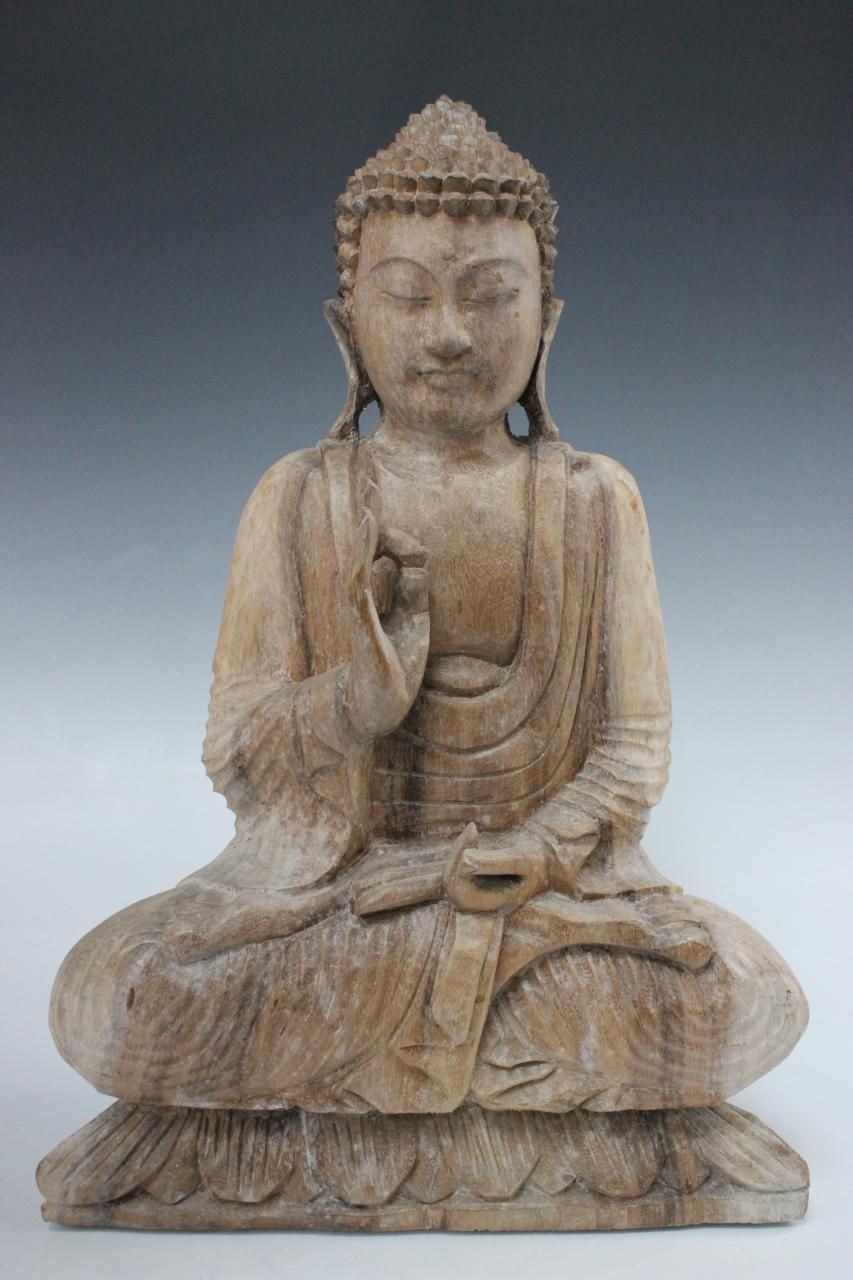 Gartenfigur Buddha Kopf Asien Büste Tempelwächter China Skulptur Buddhafigur