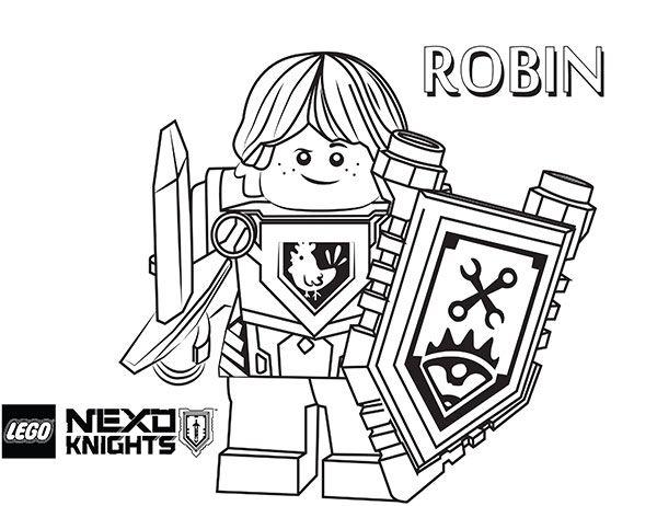Nexo Knights Robin Ausmalbilder 222 Malvorlage Nexo Knights ...