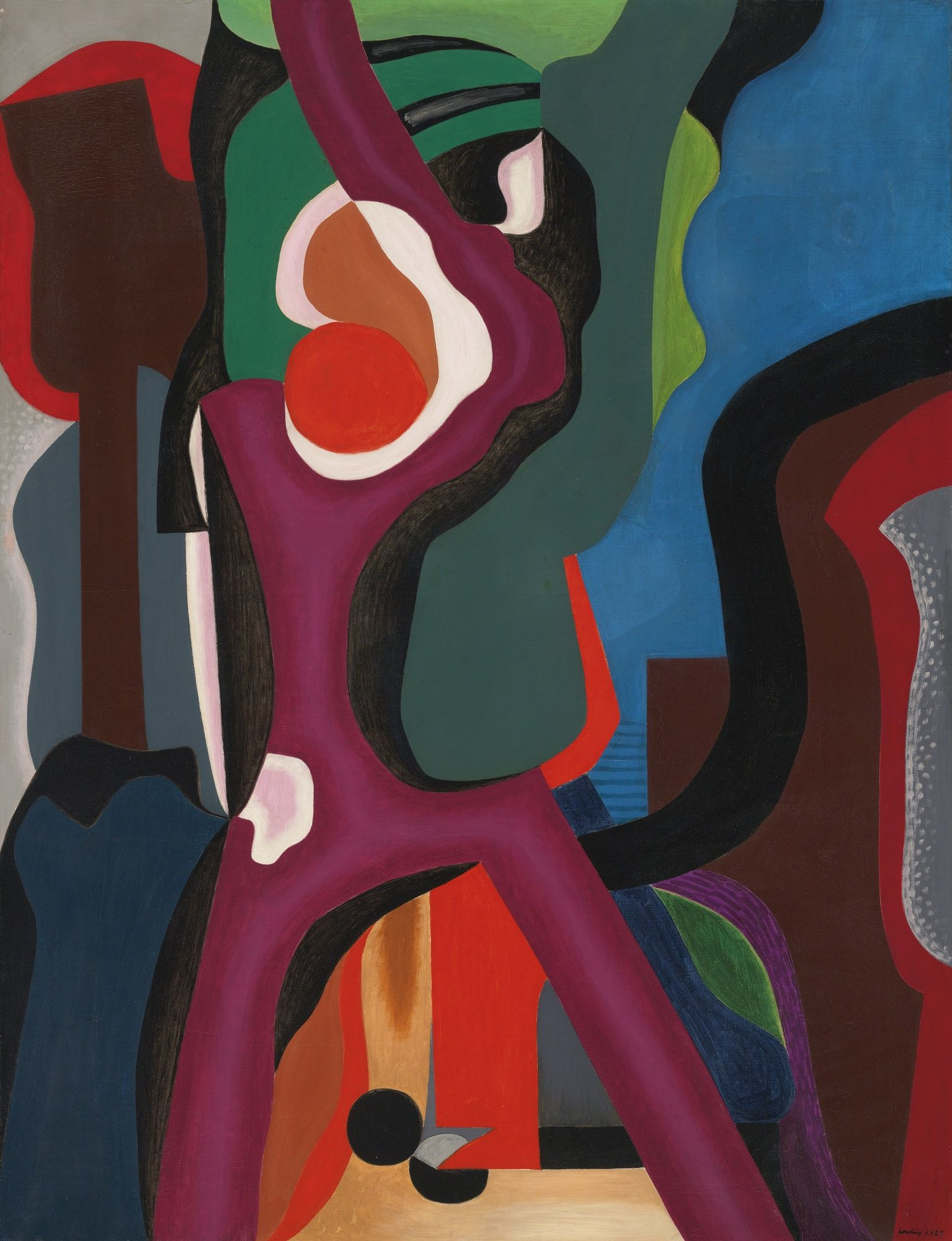 'Composition (Grande vitesse domicile' by Auguste Herbin, 1927