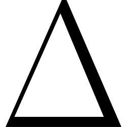 File:Greek Delta classical.svg - Wikimedia Commons |Greek Delta Symbol