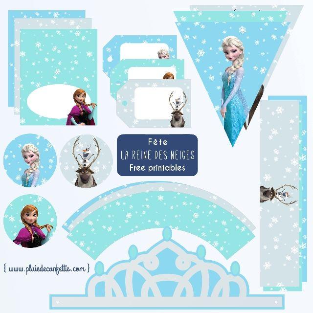 Fete La Reine Des Neiges Decoration Imprimable Gratuite 2 Jpg 640 640 Pixels Deco Reine Des Neiges Reine Des Neiges Anniversaire Reine Des Neiges