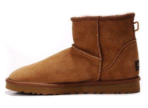 Ugg Classic Mini Woman Boots 5854 Chestnut Sale 89 00 Ugg Classic Mini Boots Fox Fur Boots