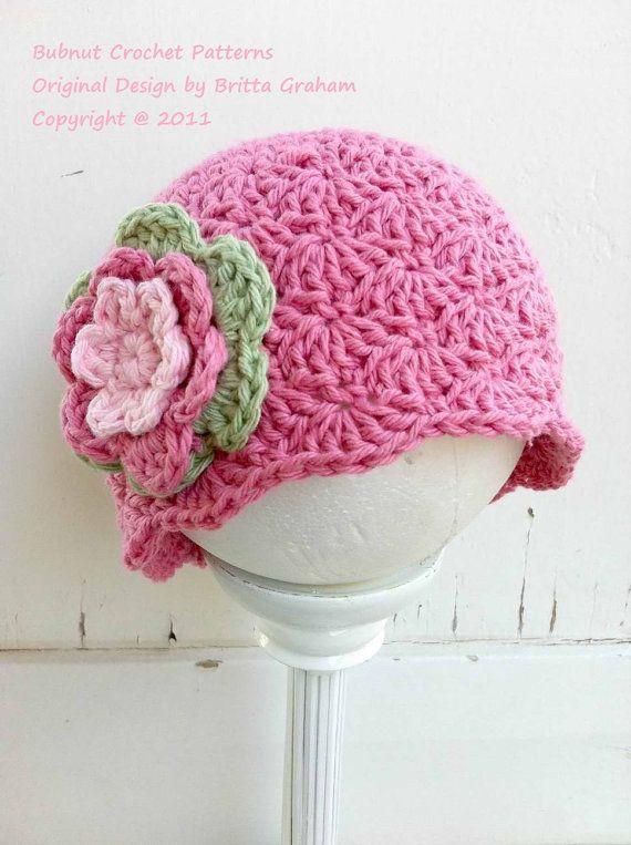 Crochet Hat Pattern - Shell Stitch Cap Crochet Pattern No.113 ...