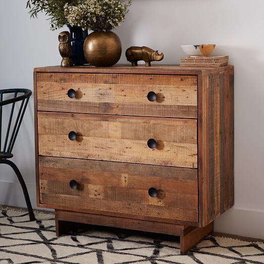 Emmerson174 Reclaimed Wood 3Drawer Dresser Natural Dresser