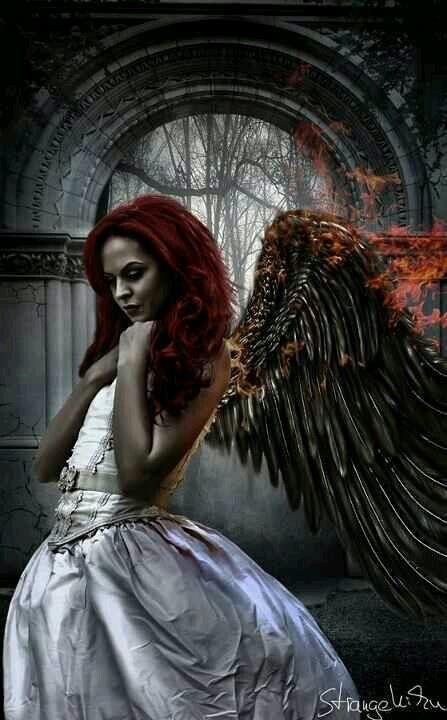 Devilish Traum Kunst Dunkle Engel Schwarze Engel