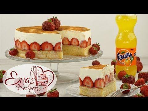 Fanta Kuchen Mit Erdbeeren Evasbackparty Erdbeer Kuchen Backparty Kuchen