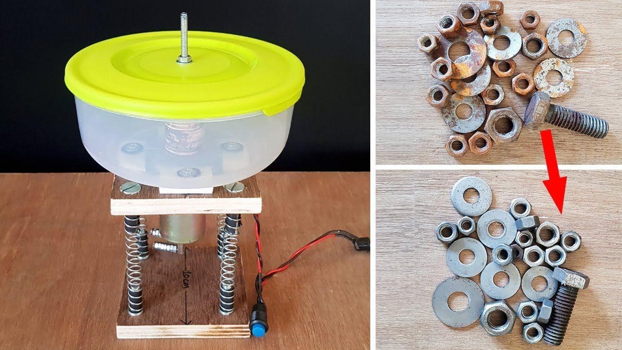 How to make a vibratory tumbler machine garagem ferramentas