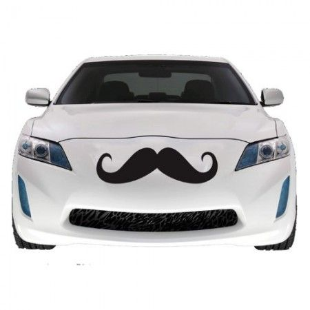 Car mustache decal! Gives your ride a touch of class! http://pixel-shack.net/car-mustache/ #car #mustache #automobiles #automotive #likeasir