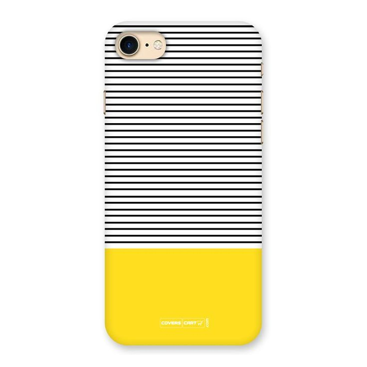 official photos 7ceb6 59171 Bright Yellow Stripes Back Case for iPhone 7 CoversCart | Mobile ...
