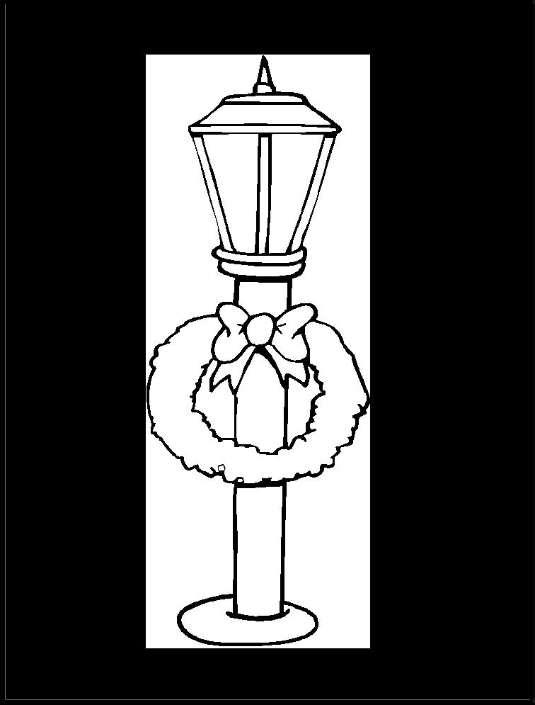 Faro Corona luz de navidad para recortar y colorear | Imagen para ...