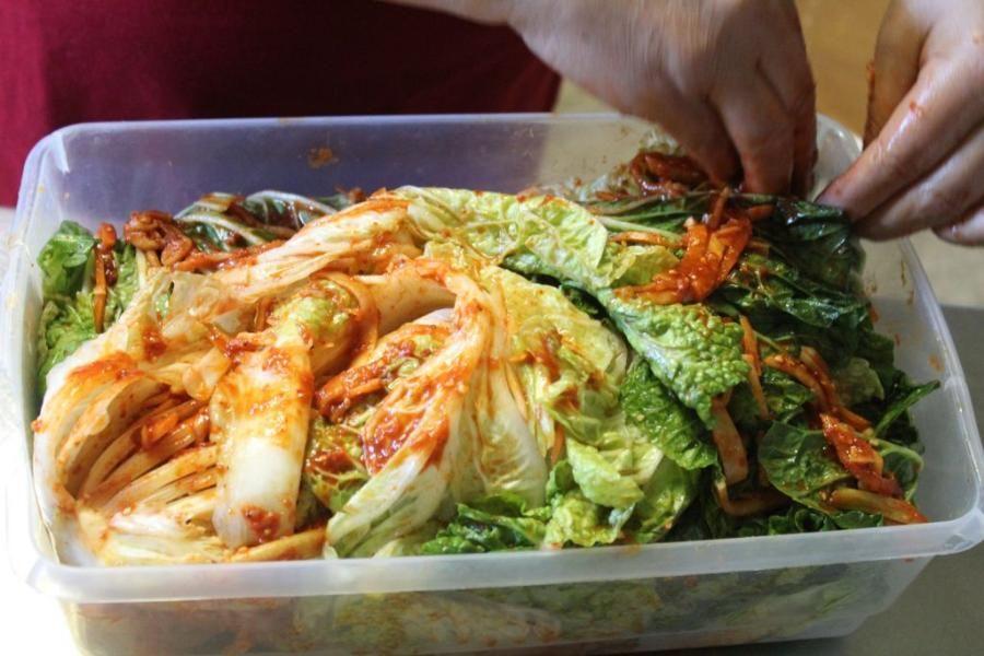 Beet kim chi recipe here...