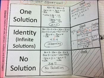 Multi-Step Equations with No Solution and Identity | Math ...