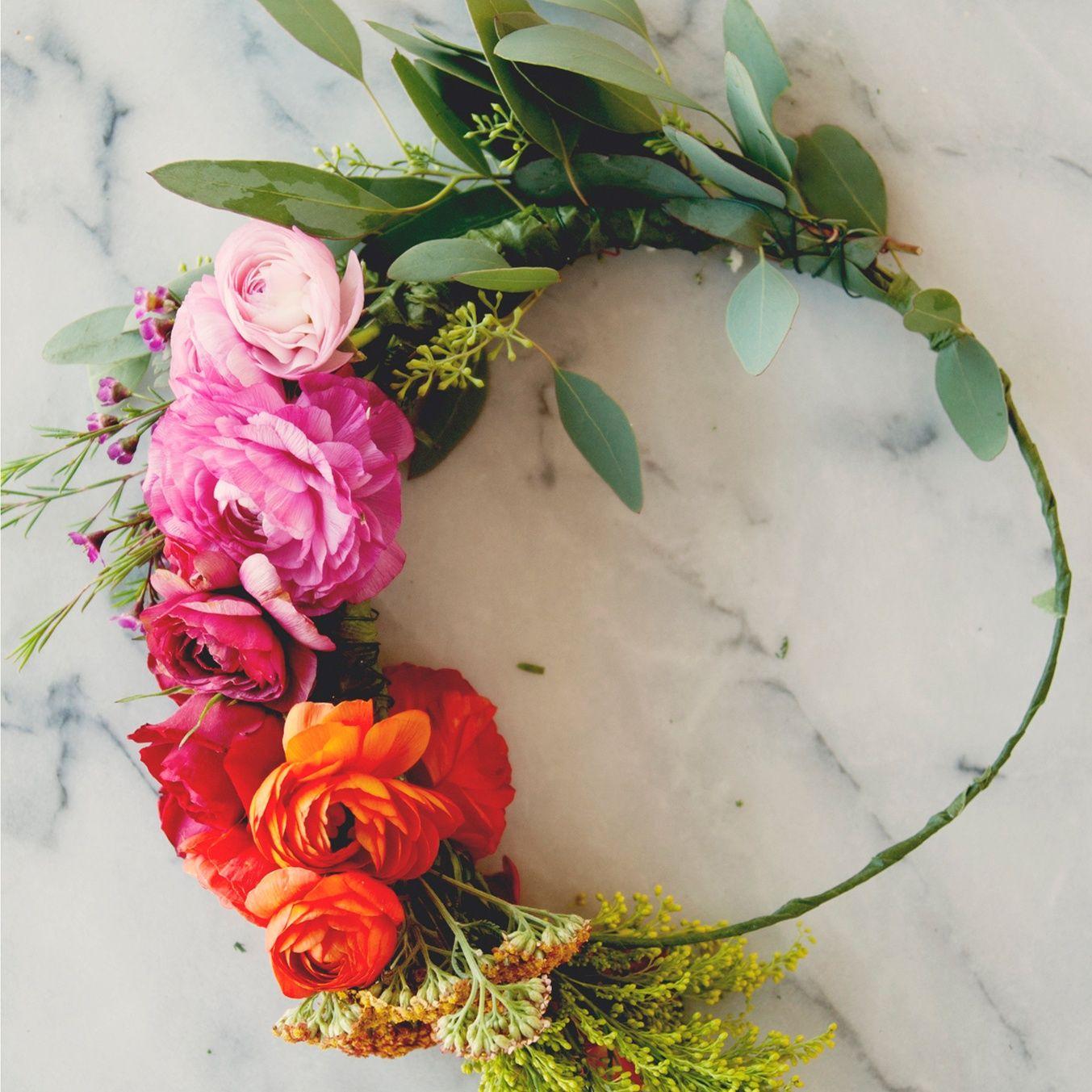 Flower crown in 2018 still life pinterest martha stewart easy flower crown project martha stewart weddings izmirmasajfo