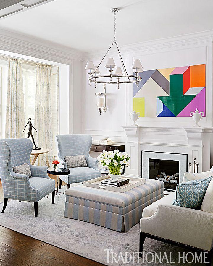 Living Room wood floors light walls