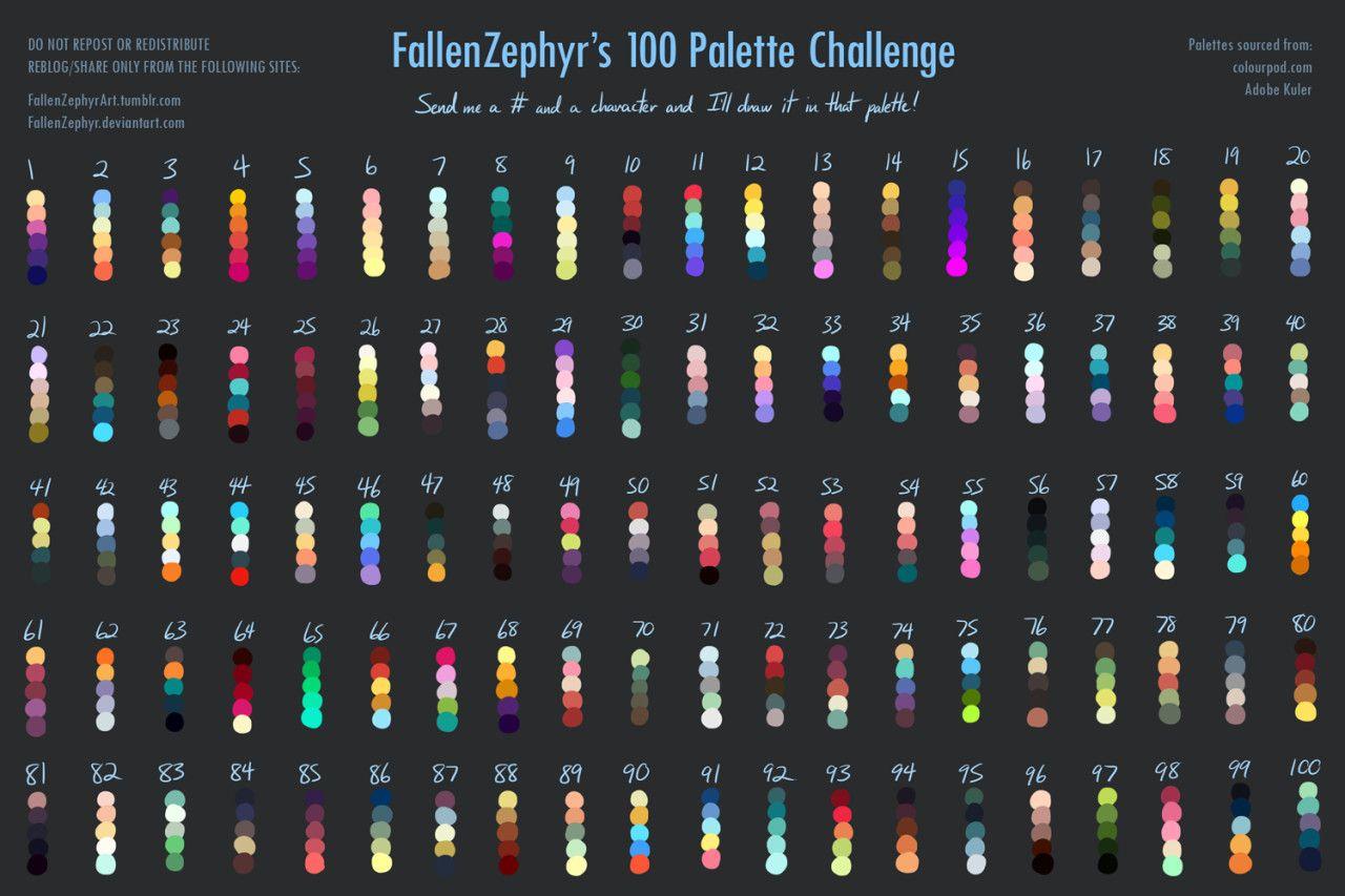 ArtStation - 100 palette challenge, Eleni Tsami