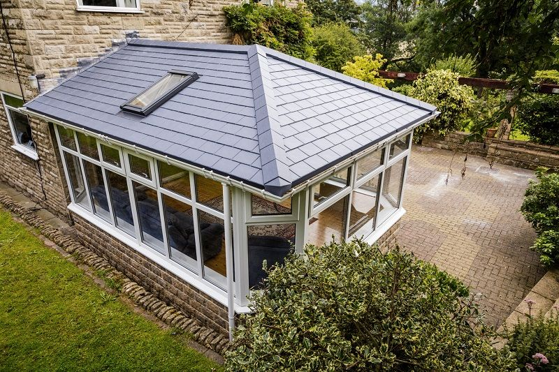 Eurocell Adds Time Saving Slate Effect Tiles To Equinox Tiled Roof Range Tiled Conservatory Roof Conservatory Roof Roofing Systems