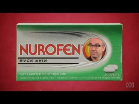 Court rules Nurofen advertising misleading 2015 http://www.abc.net.au/news/2015-12-14/court-finds-nurofen-made-misleading-pain-relief-claims/7025848  CHRONIC PAIN | The Checkout | ABC1 - YouTube