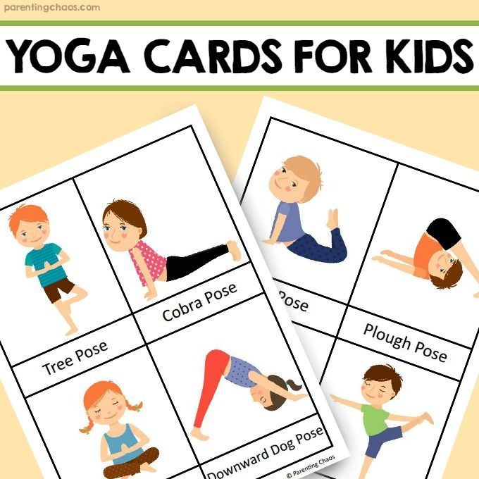 Yoga For Kids Free Printable Yoga Cards Yoga For Kids Kids Yoga Poses