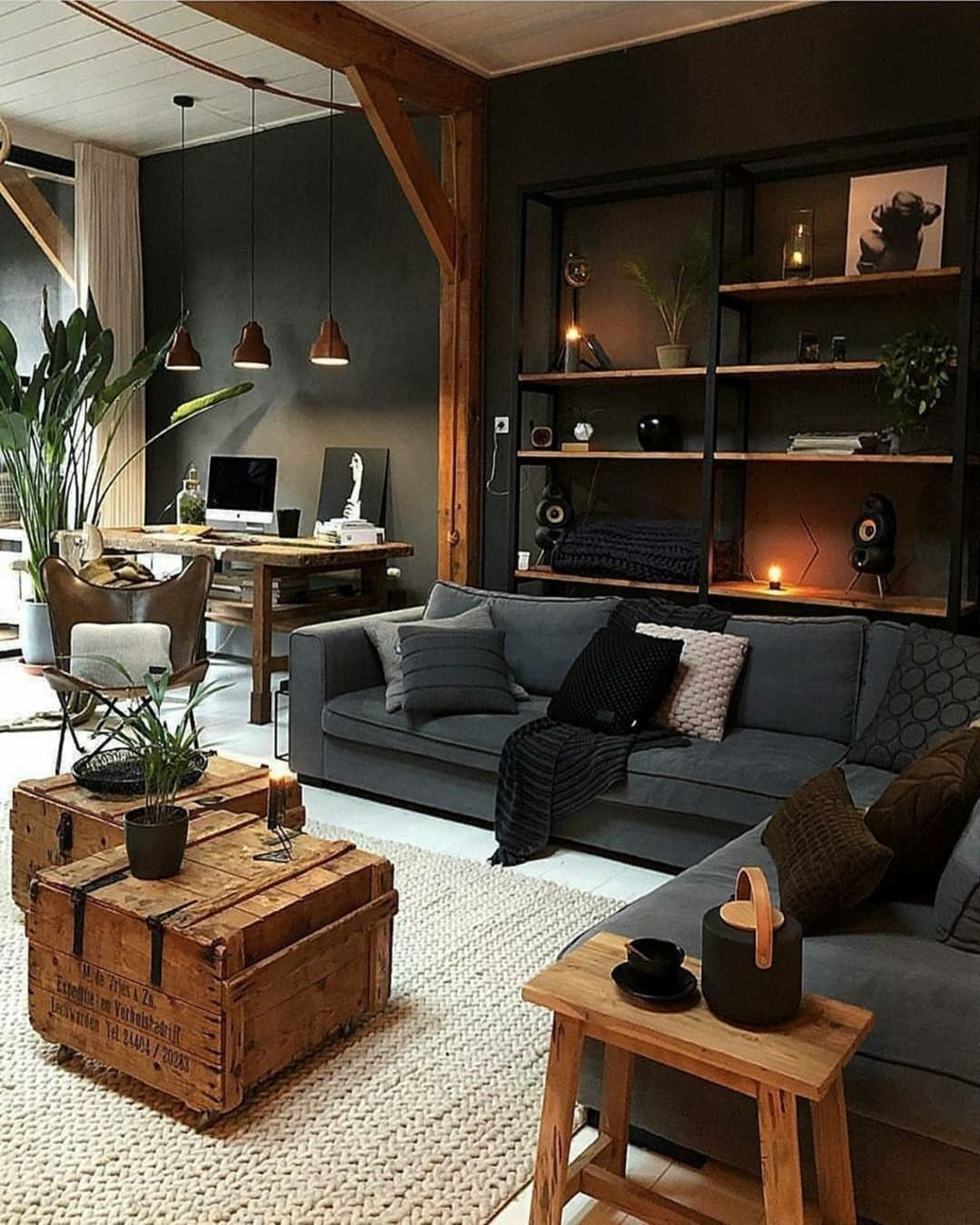 10 Beautiful Industrial Living Room Ideas For Cozy Home In 2020