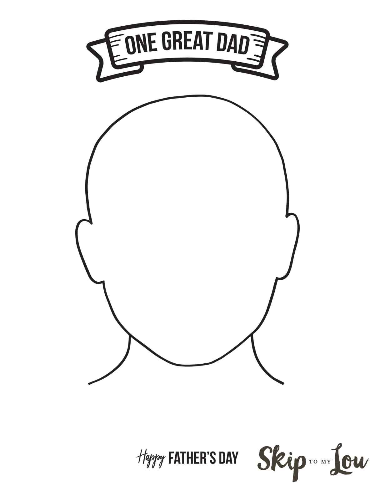 Dad Portrait Template Coloring Page