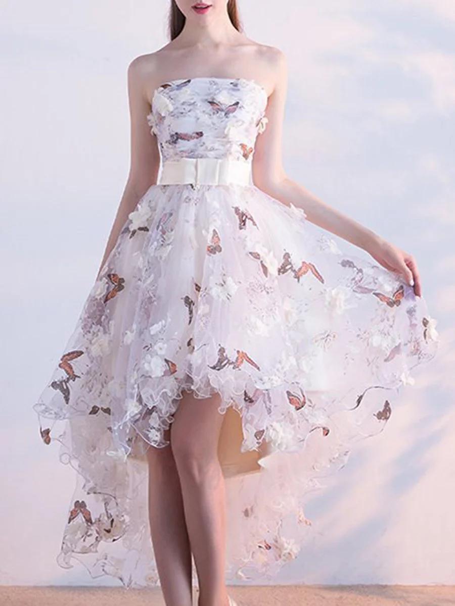 Stylewe Summer Dresses Floral Dresses Prom High Low Off Shoulder Elegant Cold Shoulder Tiered Dresses Summer Dresses Floral Dress Summer Prom Dresses Two Piece [ 1200 x 900 Pixel ]