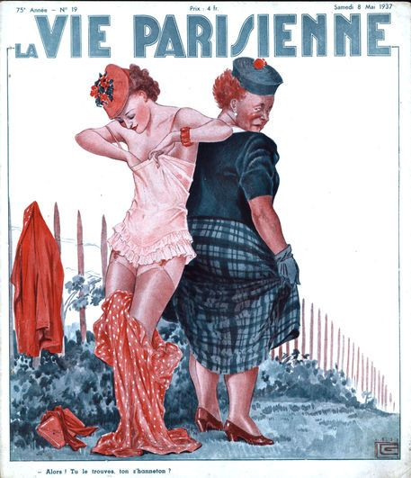 Georges Léonnec (1881 – 1940). La Vie Parisienne, 8 Mai 1937. [Pinned 6-ii-2015]