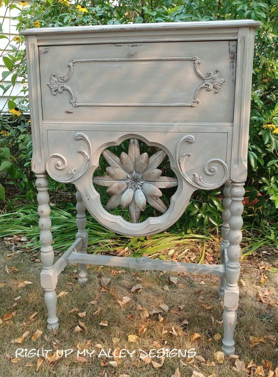 Vintage Furniture Painted Seattle Pick Up Small Cabinet Shabby Chic Decor Ideas French Linen Distressed 1 Annie Sloan