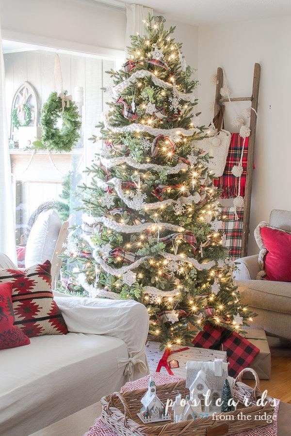 12 Ways To Decorate With Christmas Trees Christmas Tree Decorations Diy Farmhouse Christmas Decor Christmas Tree Storage