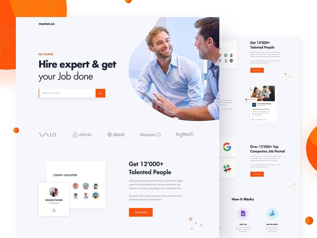 168 Likes 12 Comments Abdullah Sajol Abdullahsajol On Instagram Market Recruitment Marketplace Landing P Landing Page Recruitment Landing Page Design
