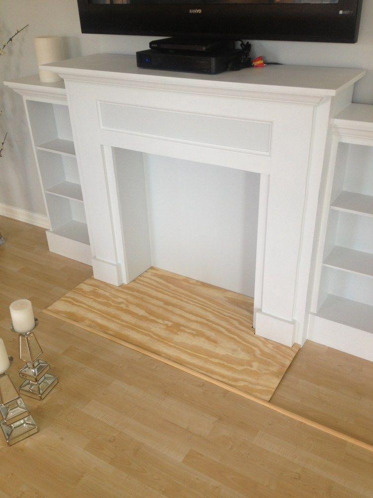 kaminumrandung selber bauen und in wei sch n f rben anleitungen kaminumrandung wohnzimmer. Black Bedroom Furniture Sets. Home Design Ideas