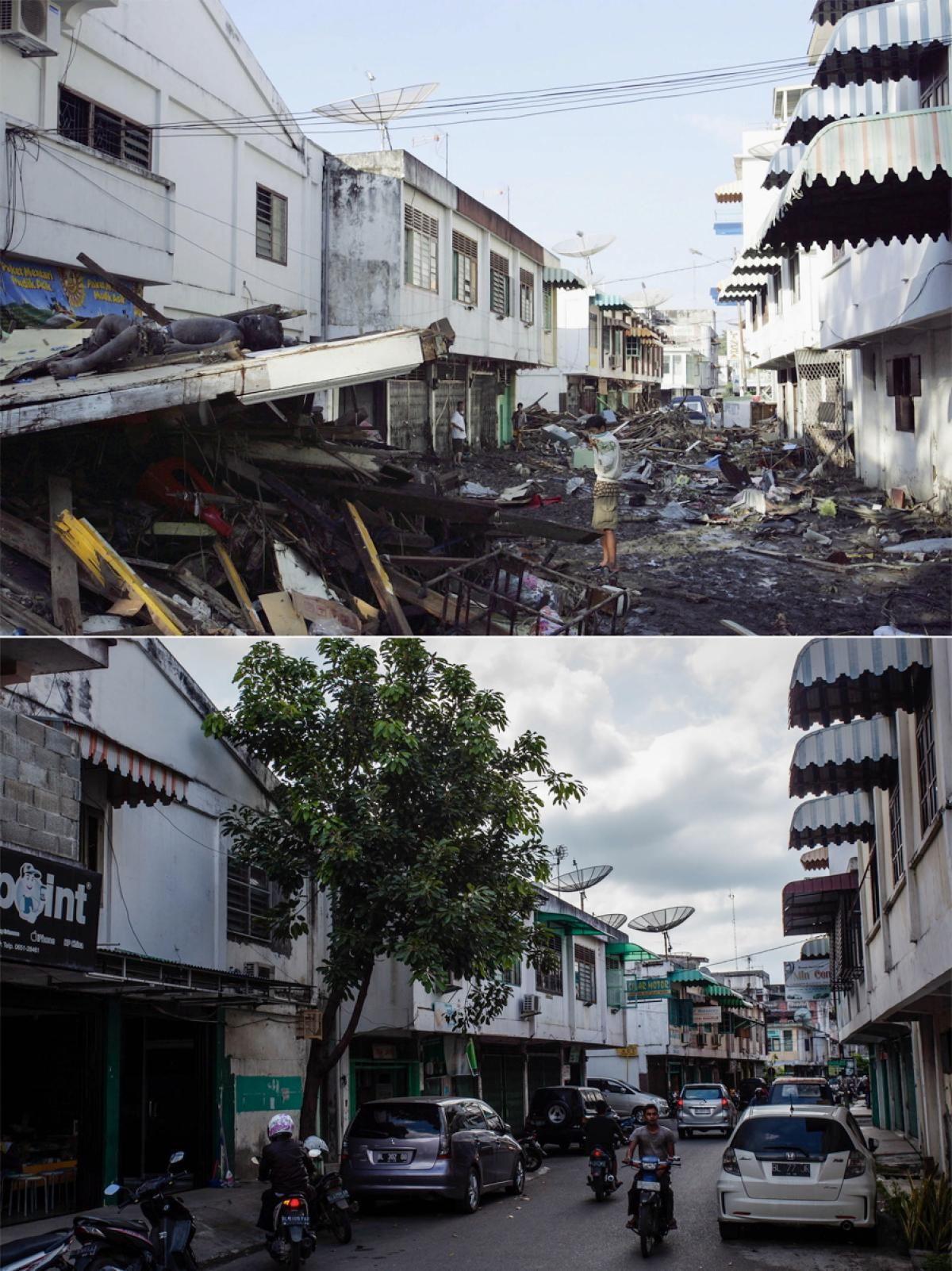 Striking Before After Shots Show Impact Of Boxing Day Tsunami 10 Years Later Indian Ocean Tsunami Ocean
