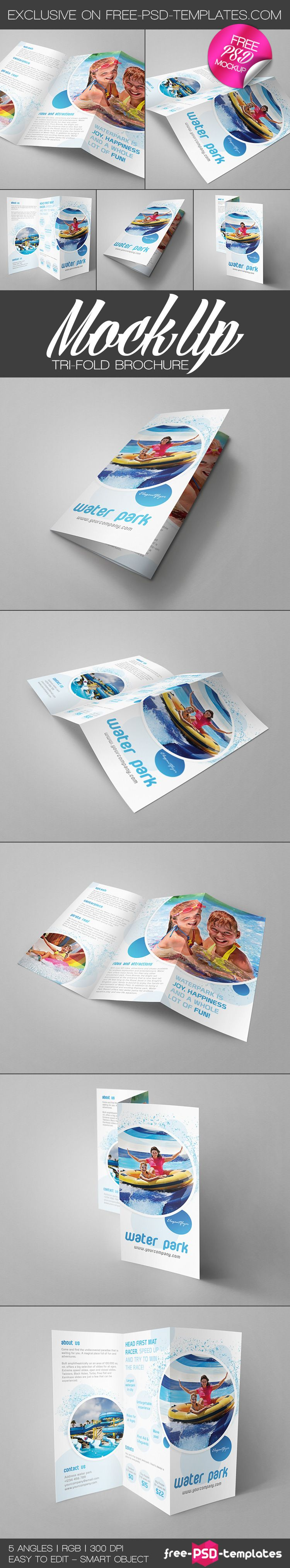 Free TriFold Brochure Mockup  Free Psd Templates  Free