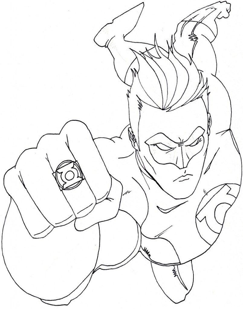 Free Printable Green Lantern Coloring Pages For Kids Superhero