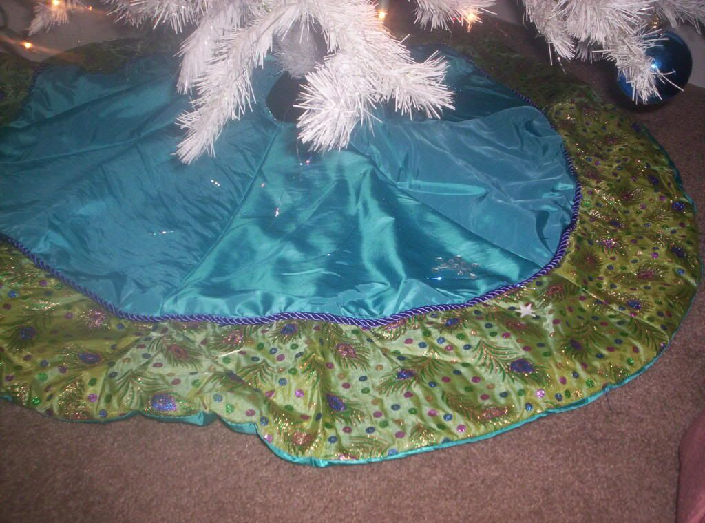 Peacock Christmas Tree Skirt | Christmas/Winter | Pinterest ...