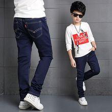 Big Kids Boys Jeans Full Length Denim Pants Spring Autumn Fashion