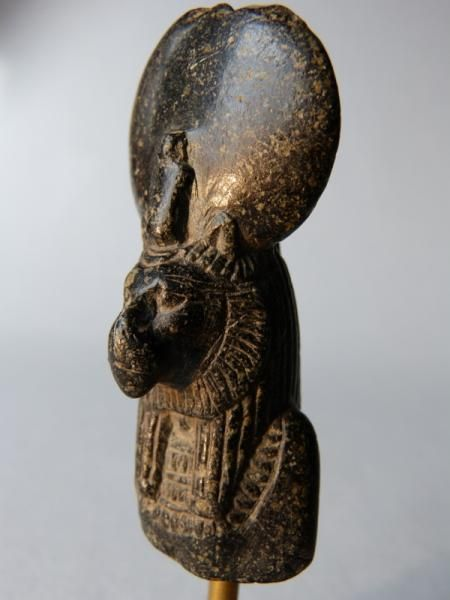 Goddess Bastet Sekhmet bust Bastet-Sekhmet bust, lion headed goddess, wearing the solar disk and adorned with a breastplate. Period: 18th dynasty