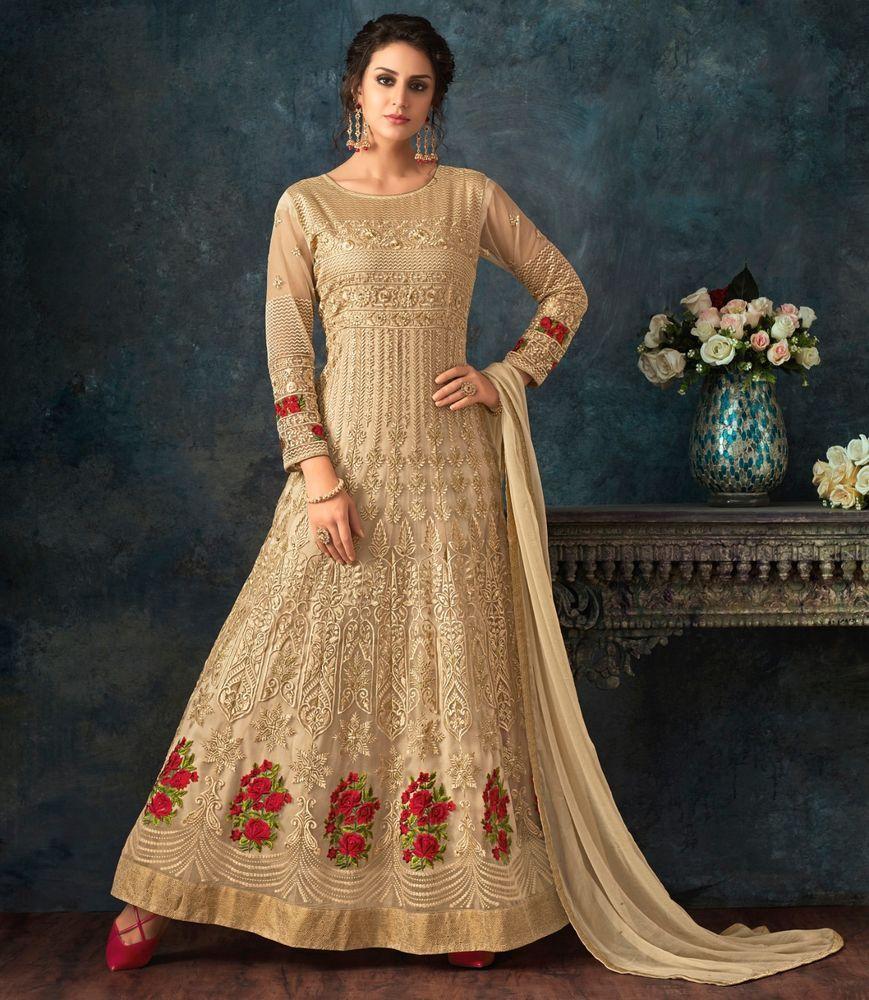 Indian Bollywood Embroidery Party Designer Ethnic Anarkali Salwar Kameez Gown