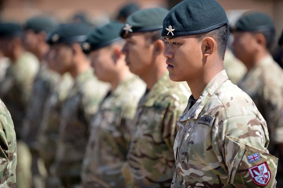 1e4a2369 Troops from 2nd Battalion The Royal Gurkha Rifles have today donned the maroon  berets of 16 Air Assault Brigade, the British Army's rapid reaction force.