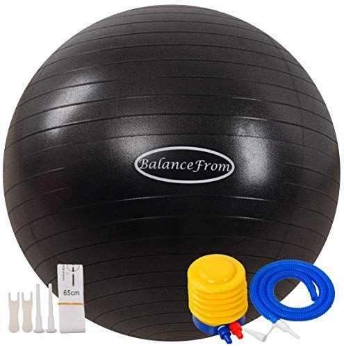 BalanceFrom Anti-Burst and Slip Resistant Exercise Ball Yoga Ball Fitness Ball Birthing Ball ... -...