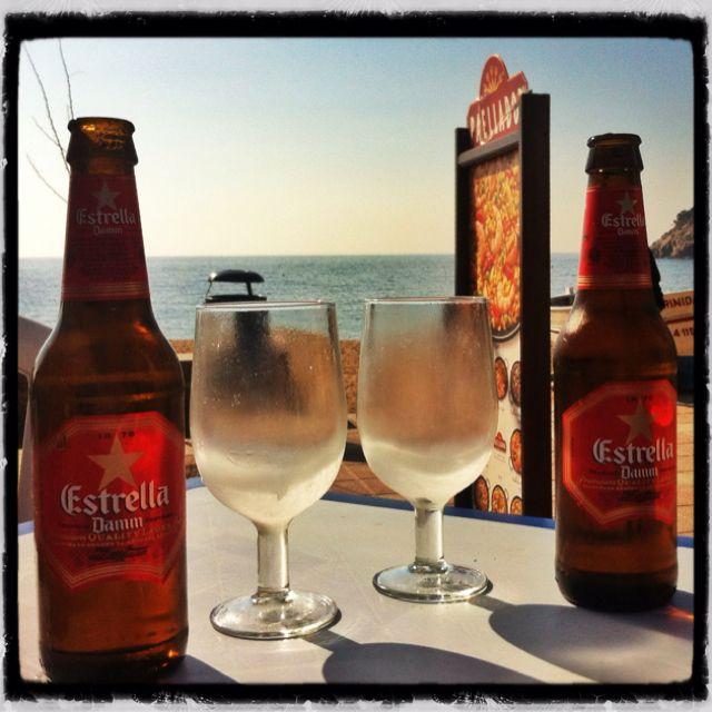 Cervecita en Tossa de Mar