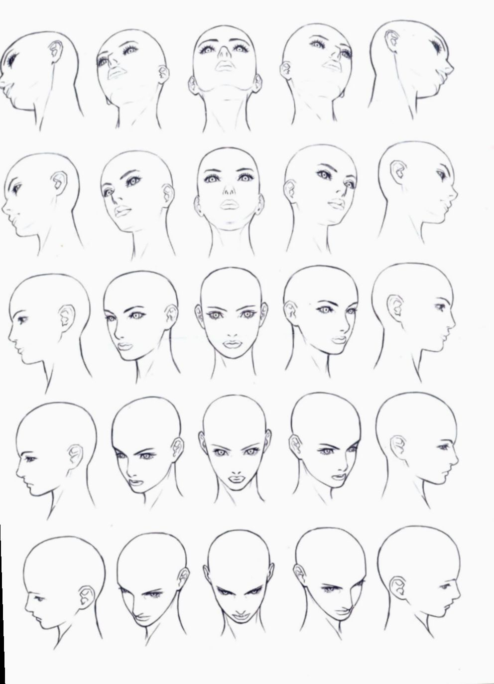 21 Anime Face Angles Female In 2020 Face Drawing Reference Drawing Tutorial Face Face Drawing